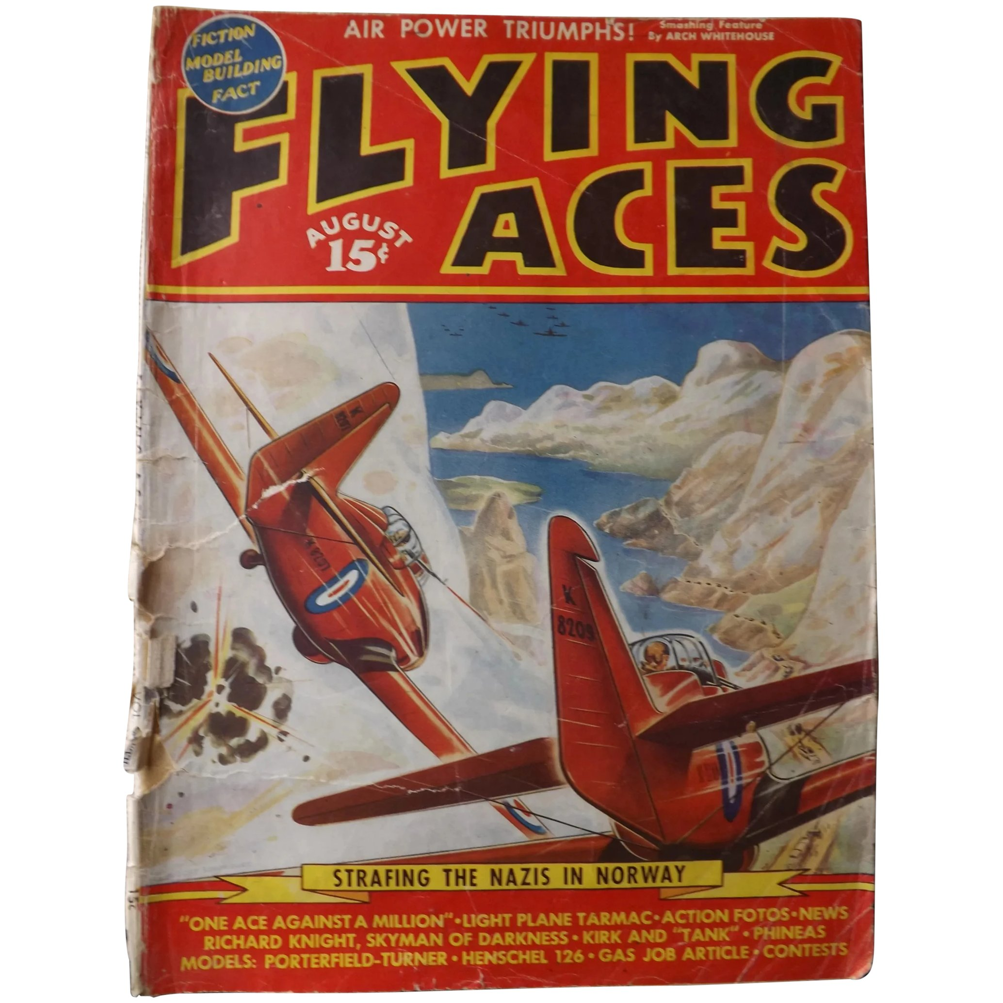 FLYING ACES Magazine August 1940