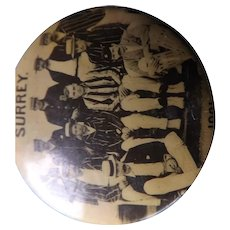 RARE Merchants Portrait Co London - SURREY Cricket Eleven Badge - 1901