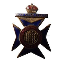 Sweethearts Badge - 16th Queen's Westminster's -South Africa 1900-1902
