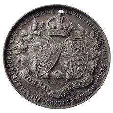 King Edward VII 1902 Coronation Medallion
