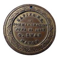 Queen Victoria 1887 Jubilee New Zealand Commemorative Medal