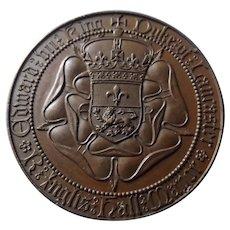 Coronation King Edward VII 1902 Bronze Medallion