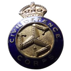 Isle of Man Civil Defence Corps Badge - WWII