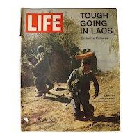 "LIFE Magazine April 12th 1971 -""Tough Going in Laos"""