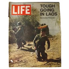 "LIFE Magazine April 12th 1971 -""Tough Going in Laos"""