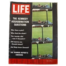 "LIFE Magazine Oct. 19th 1964 -""The Kennedy Case"""