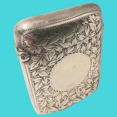 Victorian Sterling Silver Vesta Case .Hallmarked 1895