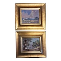 A Pair of  South African  Oil Paintings By Johan Oldert - Circa 1960's