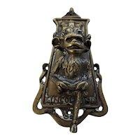 Old LINCOLN IMP Brass Door Knocker Circa 1910-1920
