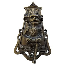 Old LINCOLN IMP Brass Door Knocker Circa 1910-1920