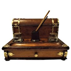 Superb Victorian Desk Writing Compendium Box-Circa 1890-1900
