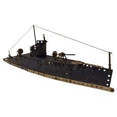 Meccano Submarine Circa 1930's England