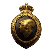 WW One  Great Britain Volunteer Training Corps Badge -1914