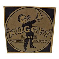 NUGGET Large White Block Circa 1940-50