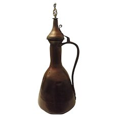 Huge Persian Antique Copper Water Storage Jug 18th Century