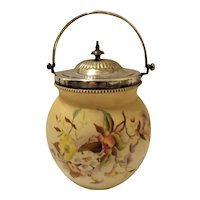 "Beautiful Victorian  Period ""Carlton Ware"" Biscuit Barrel."