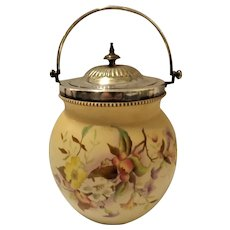 "Beautiful Victorian  Period ""Carlton Ware"" Biscuit Barrel."