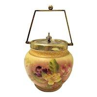 "Gorgeous Victorian ""Carlton Ware"" Biscuit Barrel"