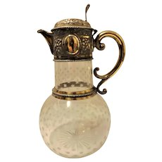 Superb English Gilt & Silver Victorian Claret Jug Hallmarked For 1871