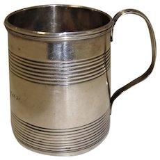 Splendid Wee Georgian Sterling Silver Christening Mug - 1799