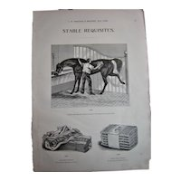 MOSEMAN'S Original Illustrated Guide Page - Circa 1892