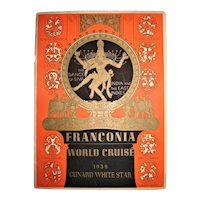 R.M.S. Franconia Cunard White Star Liner - 1939 World Cruise