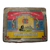 G. Gouras & PH. Cokkalis Egyptian Cigarette Tin Circa 1880-1900