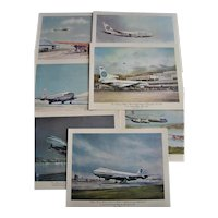 "PAN AM Full Set of  13 Menu Folders ""Historic First Flights of Pan American Clippers"""