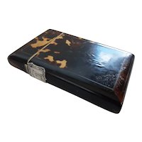 Gents Edwardian Cigar Case with Family Silver Crest