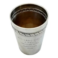 Antique Swiss Tobogganing Silver Trophy Cup 1914