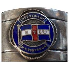 M.V. Duntroon Souvenir Napkin Ring - Melbourne Steamship Co