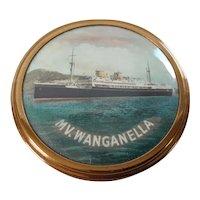 M.V. Wanganella Souvenir Powder Compact
