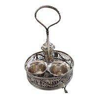 Superb Edwardian Sterling Silver Condiment Set