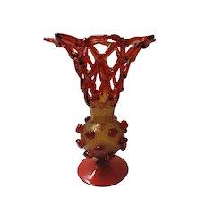 Amazing Aesthetic Movement  Venetian Art Glass Vase