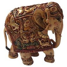 Gorgeous Indian Hand Decorated Bone Elephant