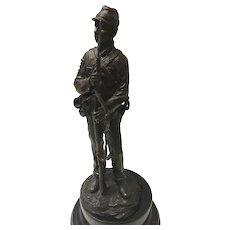 MODERNIST Bronze American Civil War Union Soldier