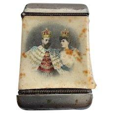 VESTA Case Coronation of King Edward Vll & Queen Alexandra