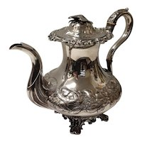 Lovely Silver Plate Tea Pot With Eagle to Lid