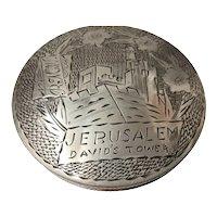 "A Superb Irish Silver ""Jerusalem"" Powder Compact"