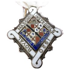 Sterling Silver Stewards Badge 1920 Royal  Masonic Institute For Girls6