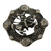Scottish Celtic Sterling Silver Brooch / Pendant 1856-57