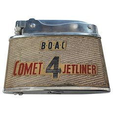 "B.O.A.C.   ""Comet  4 Jetliner"" Cigarette Lighter"