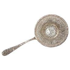Sterling Silver Tea Strainer - Circa 1900