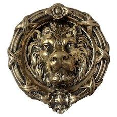 """Massive """"Lion Head""""  Brass Door Knocker"""
