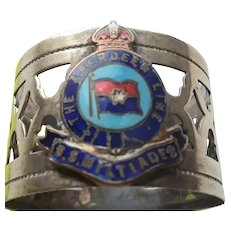 S.S. Miltiades, Aberdeen Line, Souvenir Napkin Ring