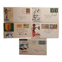 QANTAS FIve Postal envelopes