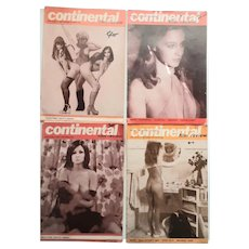 Four Issues of Continental  Film Review Magazine  1974-1976