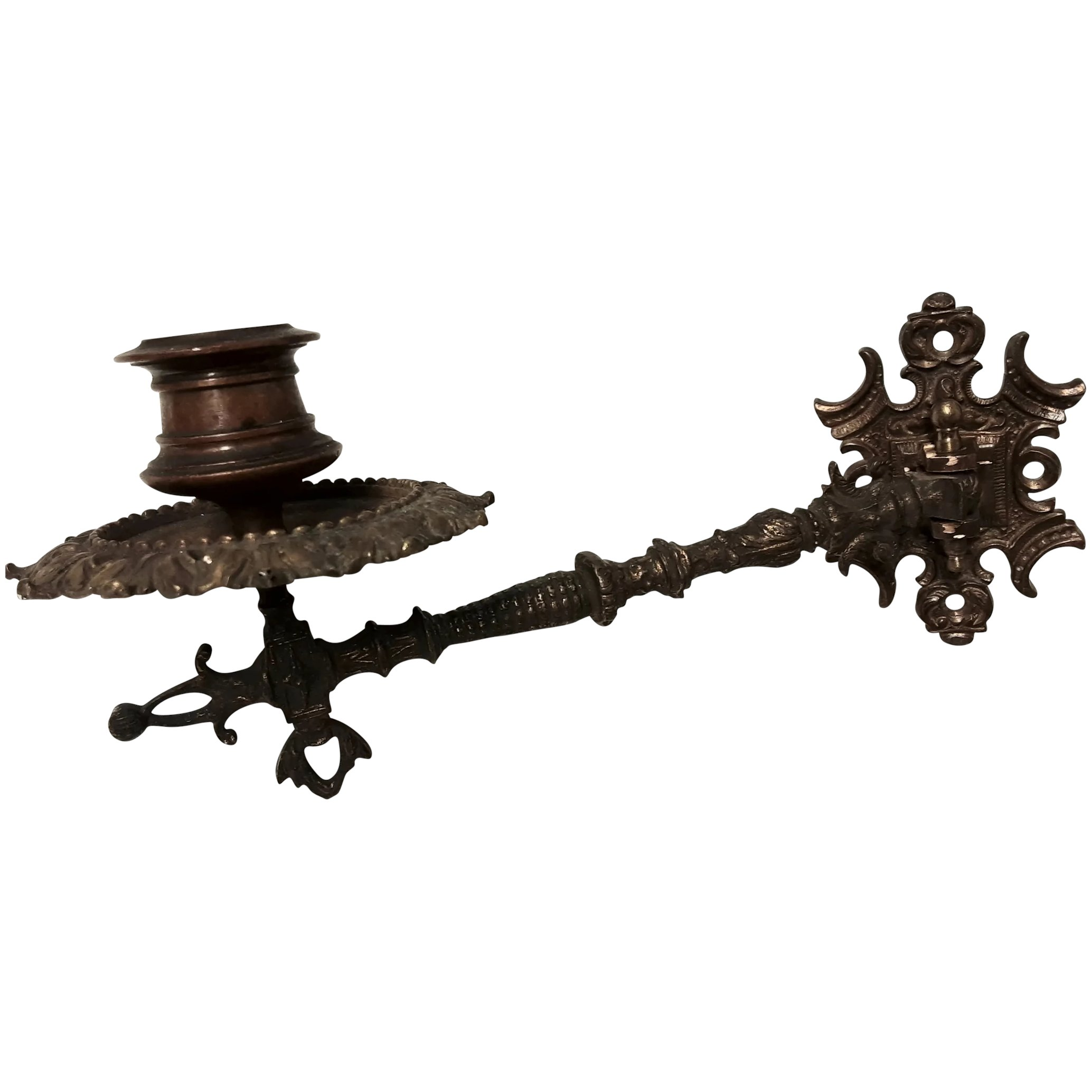 Victorian Single Arm Gothic Piano Candle Holder