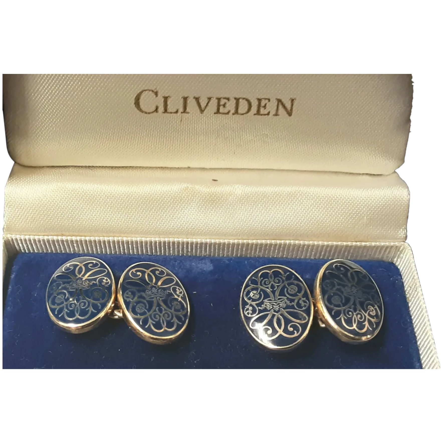 Sterling Silver Cliveden Boxed Cufflinks