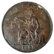 Tasmanian 1857 TOKEN Isaac Friedman - Pawnbroker